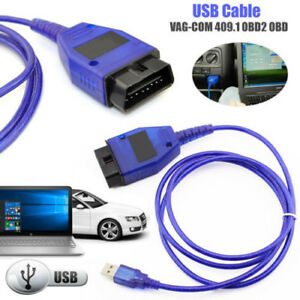 Usb Cable Kkl Vag Com 409 1 Obd2 Ii Obd Diagnostic Scanner For Vw Audi Seat Vcds