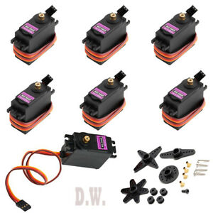 Lots Mg996r Metal Gears Digital Rc Servo Motor High Torque Helicopter Car Boat
