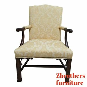 Southwood Mahogany Chippendale Living Room Lounge Arm Chair