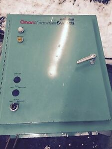 Onan Generator Transfer Switch 120 208 Volts 100 Amps 3 Phase 60 Hertz
