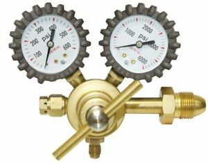 Uniweld Rhp400 Nitrogen Regulator With 0 400 Psi Delivery Pressure 245 03p Brass