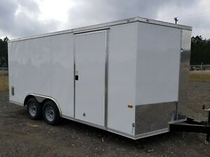 Enclosed Cargo Trailer 8 5x16 8 5 X 16 Ta In Stock Ramp V nose Car Hauler 18 20