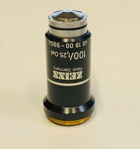 Zeiss 100x 1 25 Oil Microscope Objective 160mm Part 461900 9904