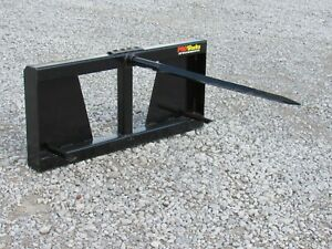48 Hay Bale Spear Fork Attachment Fits Skid Steer Tractor Quick Attach Loader
