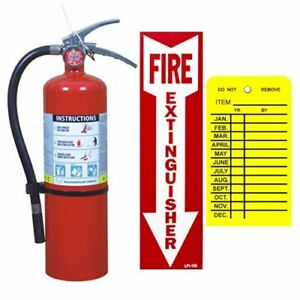 5 Lb Buckeye Abc Fire Extinguisher With Wall Hook Sign And Inspection Tag