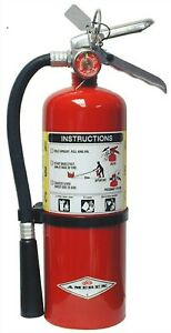 New 2019 amerex 5 lb Abc Fire Extinguisher With Wall Mount Bracket Sign