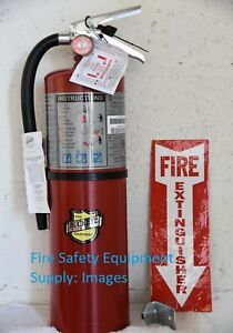 2 new Certified 2019 10lb Abc Fire Extinguisher Rated 4 a 80 bc W bracket