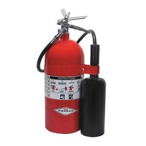 Amerex 10 Lb Carbon Dioxide 10 b c Fire Extinguisher Wall Bracket