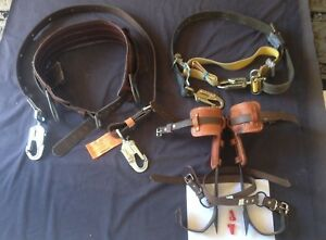 Buckingham Lineman Pole Climbing Gear 14 16 spikes 23 24 25 28 Belt Szs