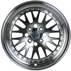 Avid 1 Wheels Av 12 15x8 Rims 4x100 25 Machine Ccw Wheels 15x8 4x100 Rims