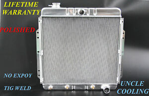 Kks Polished 3 Row For 1953 56 Ford F350 F100 Pickup Chevy V8 Engine Radiator