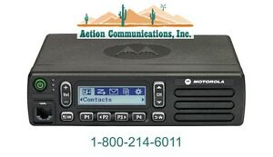 New Motorola Cm300d Digital analog Uhf 403 470 Mhz 40 Watt 99 Ch 2 way Radio