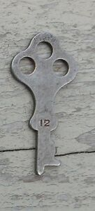 Antique Steamer Trunk Key Flat Key No 12