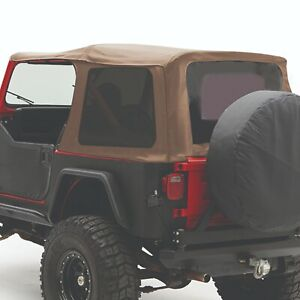 Smittybilt 9870217 In Stock Replacement Soft Top 87 95 Jeep Wrangler Yj