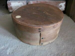 Antique Primitive 6 1 2 Wood Pantry Box Signed J Burr Early 19th Century