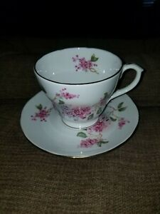 Duchess Bone China Tea Cup And Saucer England Floral Gold Trim In