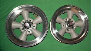 2 American Racing Torque Thrust Wheels 5 Spoke 15x7 5 X 4 75 Chevy Gm E T Mag