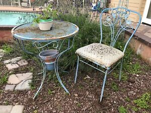 Vintage Patio Cafe Table Chair
