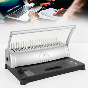 21hole Binding Machine Punch Binder 450sheets Paper Comb Adjustable Office Hot
