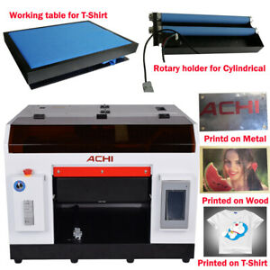 Achi A3 Uv Printer 1390 Printed Head For Cylindrical 3d Rotation Embossed Us