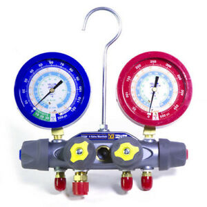 Yellow Jacket 49993 Manifold Only Liquid Gauges R 22 134a 404a F