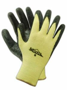Magid K roc Kev4316 Kevlar Knit Glove Nitrile Palm Coating Size 7 12 Pairs