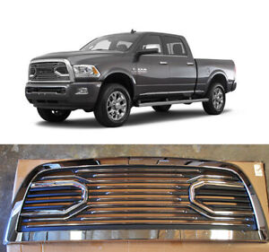 Fit For 2010 2017 Dodge Ram 2500 3500 Big Horn Front Bumper Chrome Black Grille