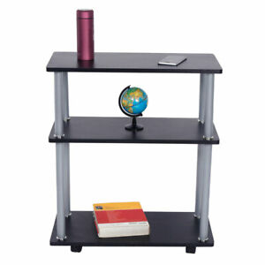 3 Tier Rolling Computer Desk Cart Small Spaces Work Desk Printer Table Storage
