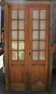 Antique Fully Restored Double French Door