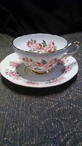 Beautiful Sutherland Of England China Tea Cup And A Rosina Saucer