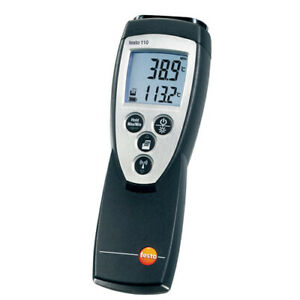 Testo 110 0560 1108 Ntc Thermometer Rugged Settable Alarms Min max datahold