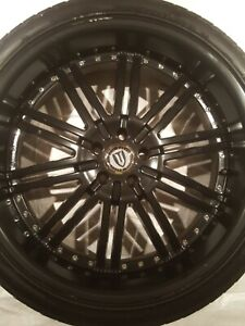 22 Inch Versante Rims With 265 35r22 Lexani Tires