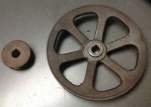 2 5 8 5 Cast Iron Pulley Sheave Set 3 4 Bore Bandsaw Compressor Project