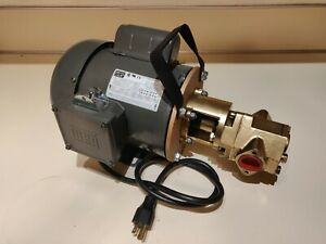 Usa 24 Gpm 3 4 Hp Weg Wvo Wmo Gear Transfer Pump Waste Oil Svo Bio Usa