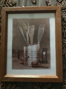 Country Primitive Style Kitchen Gadgets Framed Picture