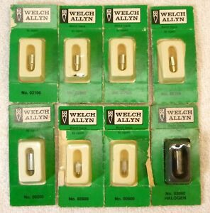 Welch Allyn Replacement Light Bulbs Lot Of 8 New 02100 00200 00900 03000