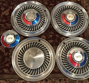 1959 1960 Ford Sunray Hubcaps Wheel Covers Galaxie Fairlane Thunderbird Fomoco