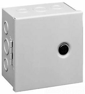 Hoffman Ahe8x8x4 Pull Box Hinged Cover Steel 8 X 8 X 4 Gray