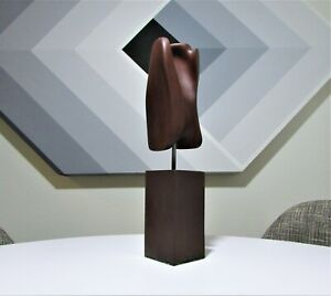 Vintage Mid Century Modern Organic Abstract Hand Carved Exotic Wood Sculpture