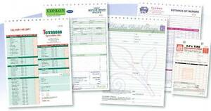 250 Custom Full Color Business Forms Invoices Work Orders 2 Part 8 5 X 11