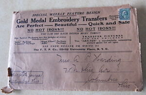 Antique Gold Medal Embroidery Transfers 1913 Transfer 5 Wood Paddle 1 Stamp