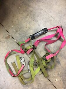Large Safety Harness With 6 Ft Shock Absorbing Lanyard