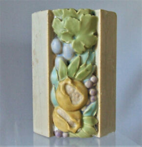 Rookwood Pottery Faience Architectural Tile Block Salvage Pomegranates Berries