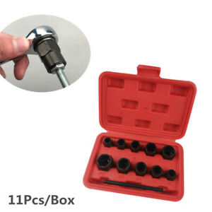 Pro Damaged Nut Bolt Remover Wheel Nuts Bolts Studs Removal Extractor Tool Kit