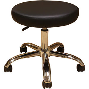 2 Medical Med Exam Examination Doctor Dr Stool Chair Black 19 Chrome Base