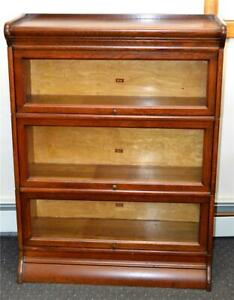 18231 Antique Oak Victorian Sectional Bookcase By Weir