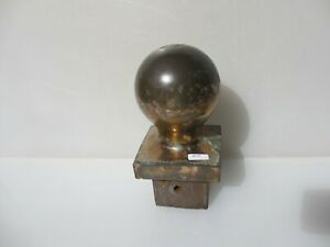 Antique Bronze Banister Balcony Top Baluster Finial Victorian Post Ball Old Gate