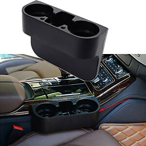 Universal Black Abs Car Seat Seam Wedge Cup Holder Stand Storage Organizer