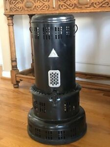 Vintage 730 Perfection Kerosene Oil Heater Parlor Stove Body Incl Spill Tray