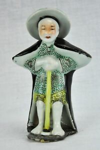 Chinese Vintage Pottery Figure Of A Man 6 1 4 Tall Bi Ar 180503